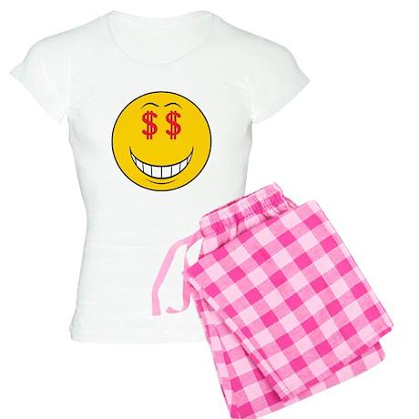 Money Eyes (Greedy) Smiley Fa Women's Light Pajama
