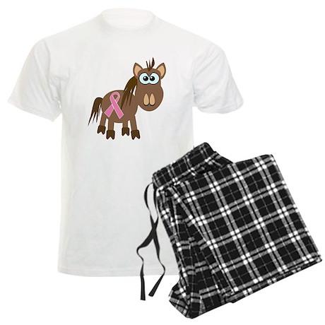 Pink Awareness Ribbon Pony/Ho Men's Light Pajamas