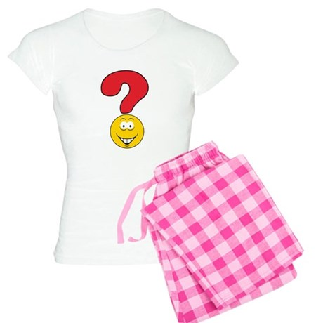 Smiley Face Question Mark Des Women's Light Pajama