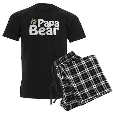 Papa Bear Claw Men's Dark Pajamas