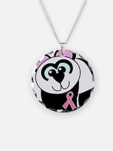 Pink Awareness Ribbon Panda Necklace