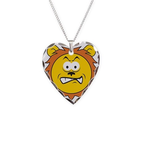 Lion Smiley Face Necklace by dagerdesigns