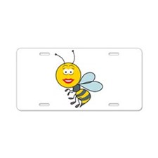 Bumble Bee Smiley Face Aluminum License Plate