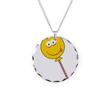 Lollipop/Sucker Smiley Face Necklace