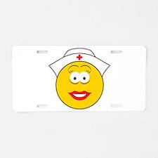 Nurse Smiley Face Aluminum License Plate