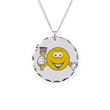 Painter Smiley Face Necklace