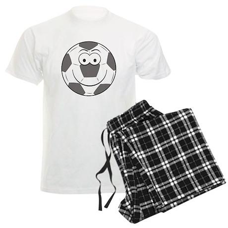 Soccer Ball Smiley Face Men's Light Pajamas