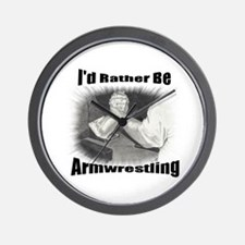 Armwrestling Wall Clock