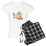 Cute Garden Time Baby Ducks Women's Light Pajamas