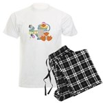 Cute Garden Time Baby Ducks Men's Light Pajamas