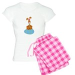 Bunny Sitting on Easter Egg Women's Light Pajamas