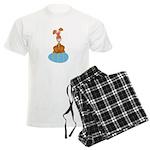 Bunny Sitting on Easter Egg Men's Light Pajamas
