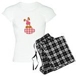 Cute Bunny With Plaid Easter Women's Light Pajamas