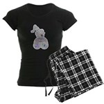 Butterfly Kisses Teddy Bear Women's Dark Pajamas