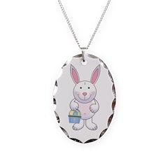 Cute Baby Boy Easter Bunny Necklace