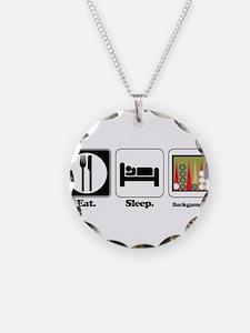 Eat. Sleep. Backgammon. Necklace