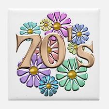 Retro 70s Tile Coaster