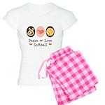 Peace Love Softball Women's Light Pajamas