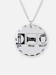 Eat. Sleep. Dee Jay/DJ/Disc J Necklace
