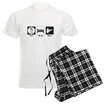 Eat. Sleep. Hunt. Men's Light Pajamas