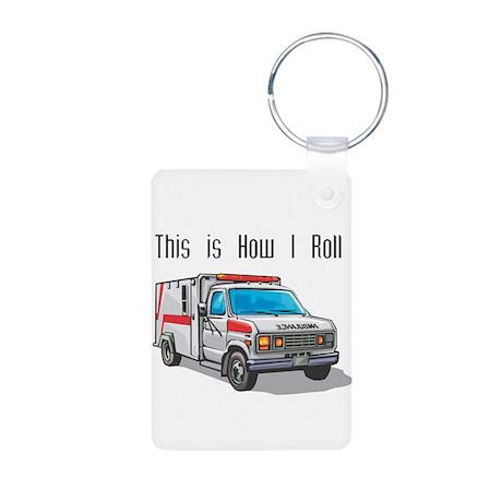 How I Roll (Ambulance) Aluminum Photo Keychain
