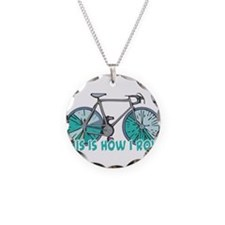 How I Roll (Bicycle/Bike) Necklace