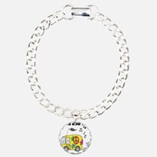 How I Roll (Hippie Bus/Van) Charm Bracelet, One Ch
