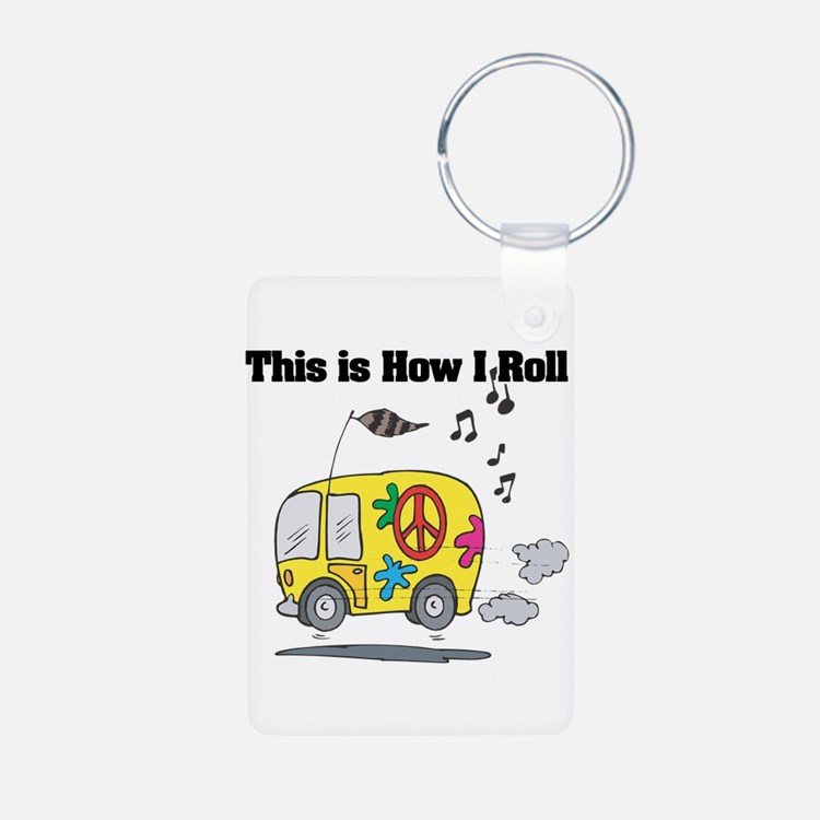 How I Roll (Hippie Bus/Van) Keychains