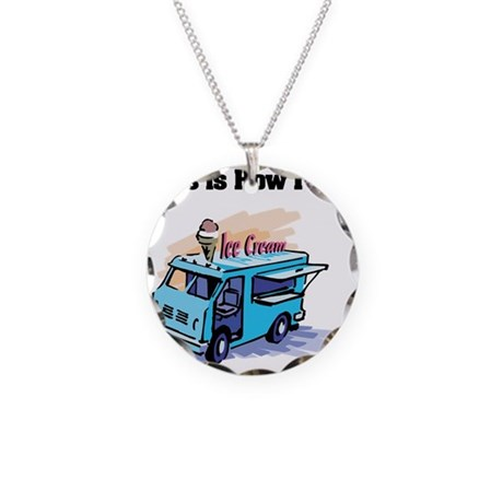 How I Roll (Ice Cream Truck) Necklace Circle Charm