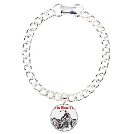 How I Roll (Motorcycle) Charm Bracelet, One Charm