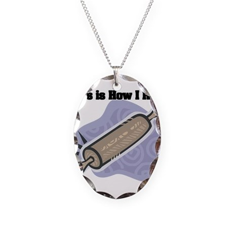 How I Roll (Rolling Pin) Necklace Oval Charm