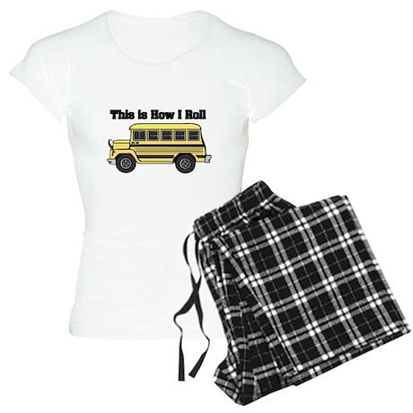 How I Roll (Short Yellow Scho Women's Light Pajama