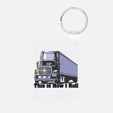 How I Roll (Tractor Trailer) Keychains