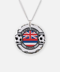 Hawaii Soccer Necklace