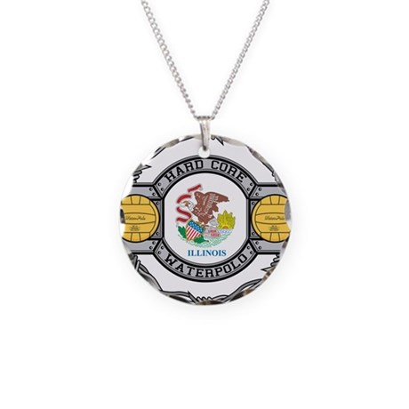 Illinois Water Polo Necklace Circle Charm