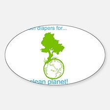 Cute Cloth diapers Sticker (Oval)