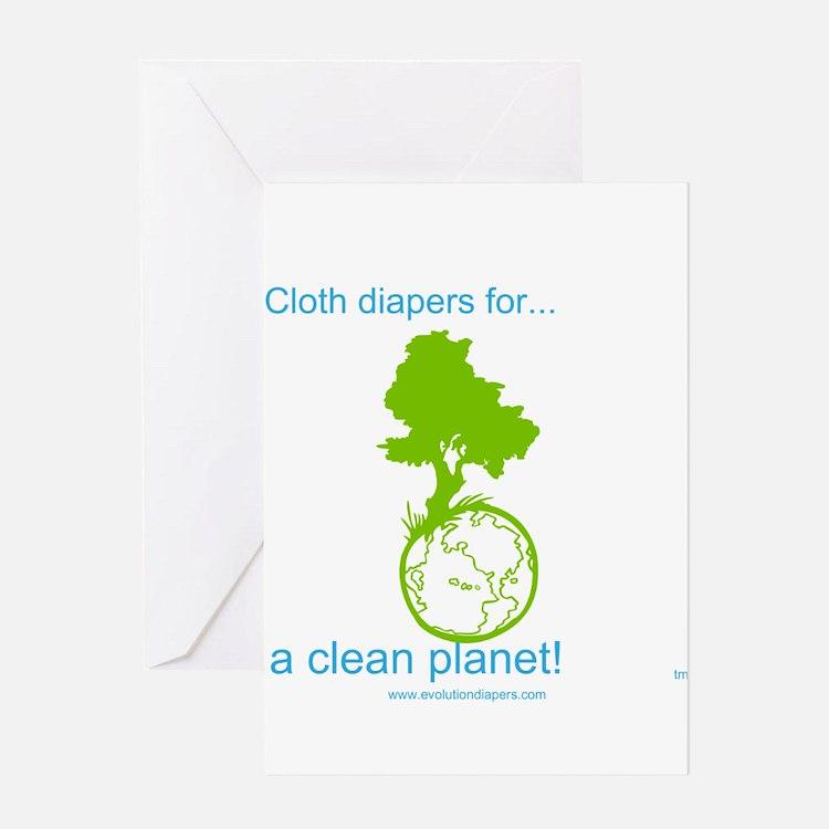 Cute Cloth diapers Greeting Card