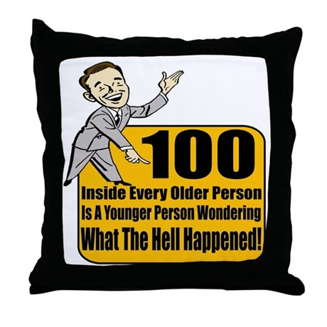 100th Birthday Throw Pillow