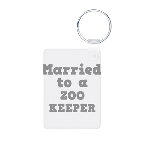 Married to a Zombie Aluminum Photo Keychain