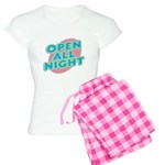 Open All Night Neon Sign Grap Women's Light Pajama