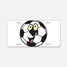 Happy Soccer Ball Belly Aluminum License Plate