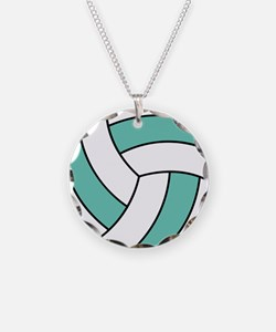 Funny Volleyball Belly Necklace Circle Charm
