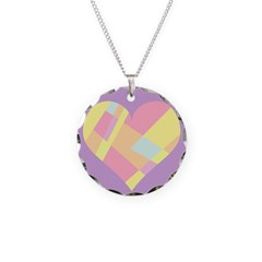 Colorful Heart Design Necklace