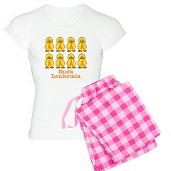 Leukemia Orange Ribbon Ducks Pajamas