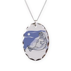 Cute Lounging Seal Necklace