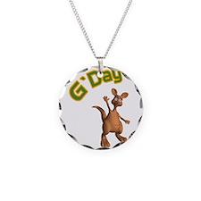 G'Day Australian Kangaroo Necklace Circle Charm