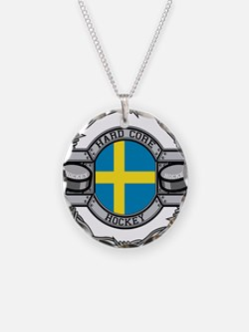 Sweden Hockey Necklace