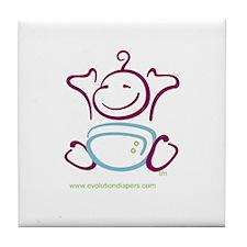 Unique Cloth diaper Tile Coaster
