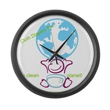 Funny Cloth diapers Large Wall Clock