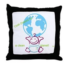 Cool Cloth diapers Throw Pillow